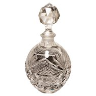 Victorian crystal scent bottle, faceted stopper