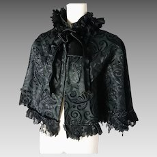 Victorian mourning Capelet with Jet beading