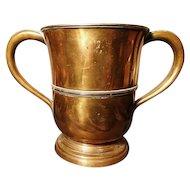 English Antique copper measure, grain, dry measure, Victorian stirling, Nottinghamshire