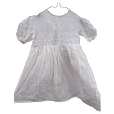 English antique baby dress, fine batiste and broderie anglaise