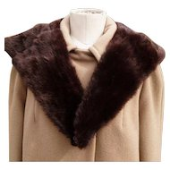 Vintage 50's mink collar, big full and soft