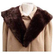 Vintage 50's mink collar, big full and soft