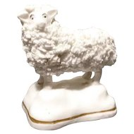 Antique Staffordshire sheep figure
