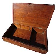 English antique Mahogany box, Georgian era, dovetail joins