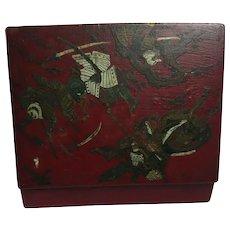 Antique Japanese Meiji era box, Kamakura Bori, Samurai