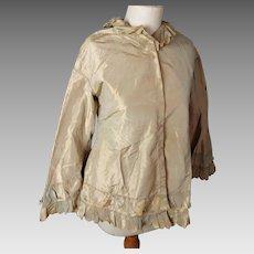 Victorian gold silk blouse, iridescent