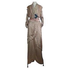 Antique Dress, Victorian silk two piece day dress