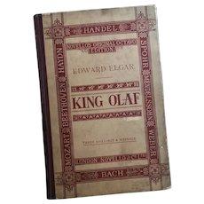 Antique opera book, King Olaf