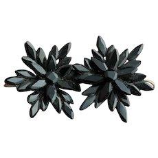 Victorian vauxhall glass earrings