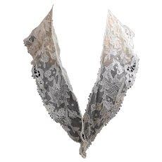 Antique Victorian point applique lace collar