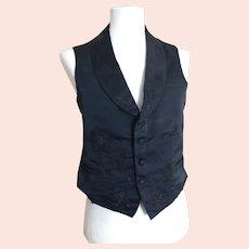 Victorian mens silk waistcoat