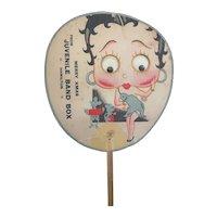 Rare vintage 1930s Betty Boop hand fan