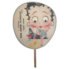 Rare vintage 1930s Betty Boop hand fan