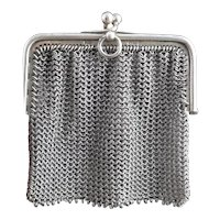 Antique sterling silver chatelaine purse