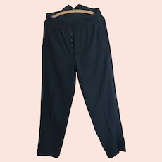Vintage 1940s mens fishtail trousers