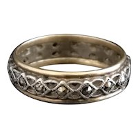 Vintage Art Deco marcasite eternity ring, 9kt