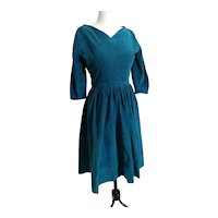 Vintage 1940s corduroy dress