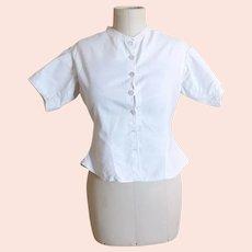 Antique Edwardian white cotton blouse