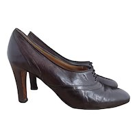 Vintage high heel Oxford shoes