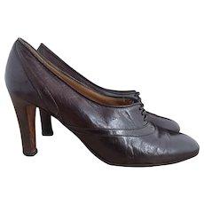 Vintage high heel Oxford shoes