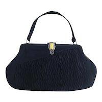 Vintage Art Deco evening purse, marcasite clasp