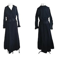 Antique Victorian two piece mourning dress