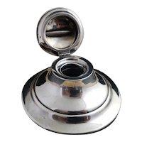 Vintage Art Deco Silver capstan inkwell