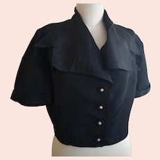 Vintage Art Deco cropped satin blouse