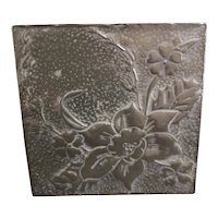 Art Nouveau pewter jewelry box