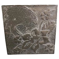 Art Nouveau pewter jewelry box