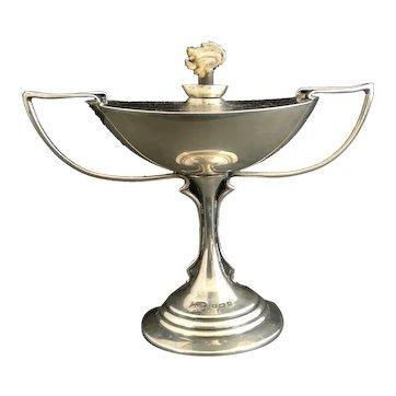 Antique sterling silver cigar lighter, table top