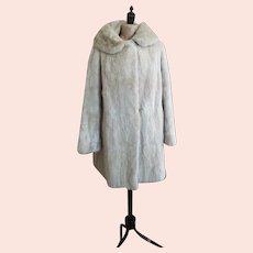 Vintage ivory mink fur coat