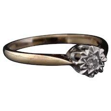 Vintage 9k Diamond solitaire ring