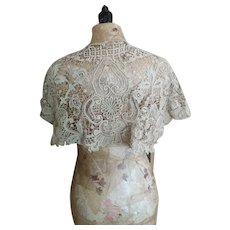 Antique Victorian lace cape