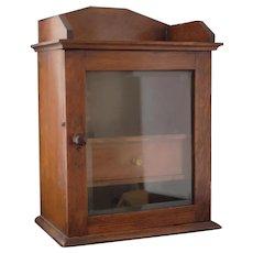 Antique Victorian oak smokers cabinet