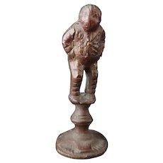 Antique bronze pipe tamper, Georgian gentleman