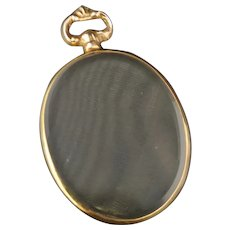 Antique 9k gold locket, double sided