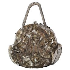 Vintage Art Deco 1930s, sequin and beadwork purse