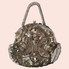 Vintage Art Deco 1930s, sequin and beadwork purse