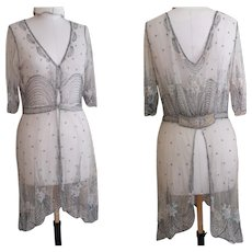 Art Deco, 1920's beadwork and lace dress
