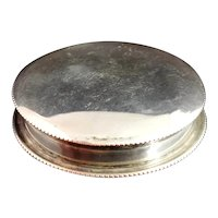 Antique sterling silver pocket snuff box