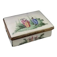 Antique Ger enamel snuff box, 18th century