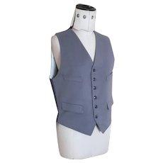 Vintage 50's gents Doeskin wool waistcoat