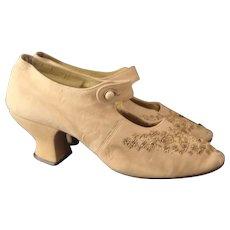Antique ladies beadwork shoes