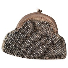 Antique Georgian cut steel purse