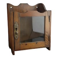 Antique Edwardian oak smokers cabinet