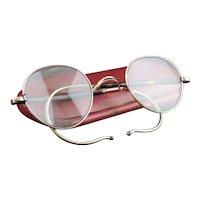 Vintage Art Deco 9ct gold spectacles, glasses
