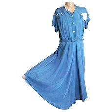 Vintage 1940s Rayon tea dress