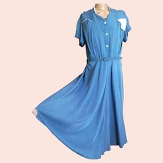 Vintage 1940s Rayon tea dress