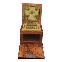 Victorian walnut jewellery box, fall front